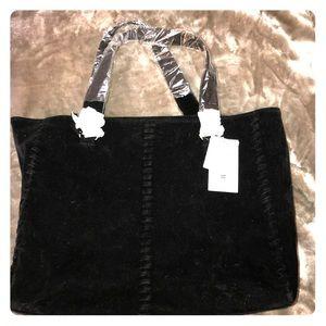 NWT JustFab Black Suede Bag